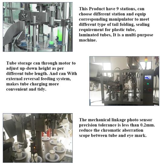 Plastic/Cosmetic Skin Care Pharma Use Tube Filling Sealing Machine