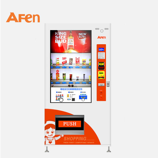 Afen Touch Screen Cold Drink Vending Machine Mini Melts Vending Machine Price