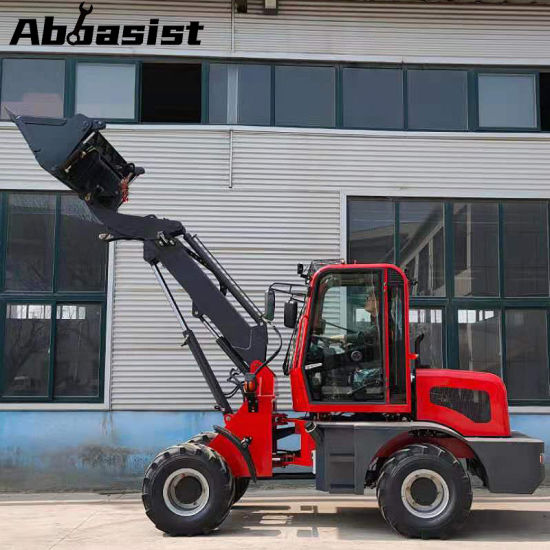 OEM high quality cheap price AL1600T four wheeled drive compact articulating hydraulic farm using mini tractor telescopic wheel loader