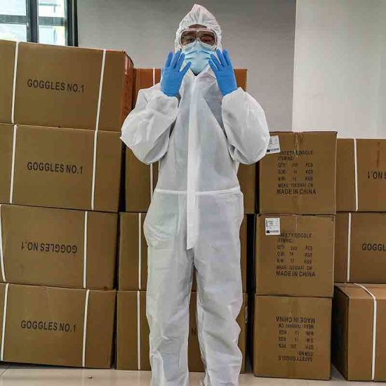 Disposable Coverall Suit Protection Suit Clothing Bodysuit Safe Clothing Protective Work Clothes