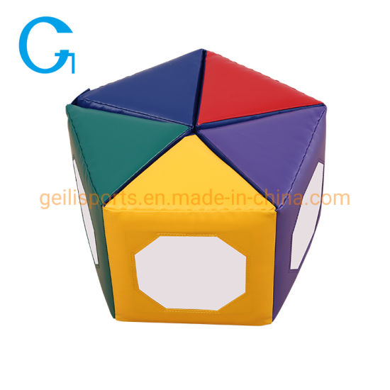 Colorful Folding Kids Soft Play Pentagonal Mat with Mirror