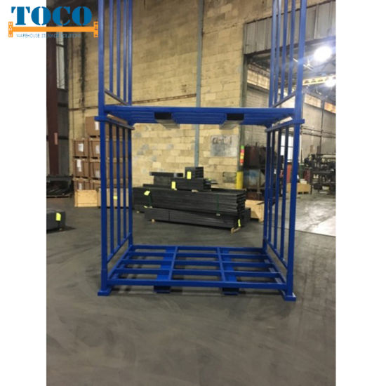 UV Protection Light Duty Talior-Made Foldable Logistic Stack Rack with Mesh Wall