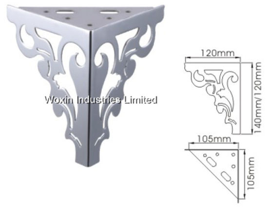 China Brushed Metal Chrome Furniture Legs With 140mm For Sofas Beds