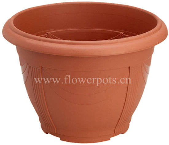 Round Plastic Garden Planter (KD3701-KD3705) pictures & photos