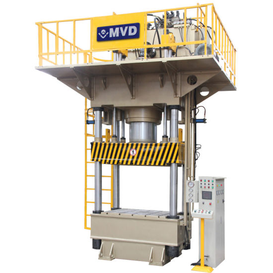 Hydraulic Metal Hole Punch Press Four Column Deep Drawing Press for Stainless Steel Pot Production Line