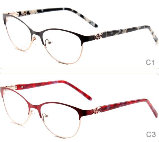 China 2018 Online New Designer Stainless Steel Metal Woman Glasses ...