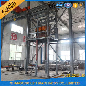 Goods Vertical Guide Rail Elevators Hydraulic Warehouse Cargo Lift Price pictures & photos