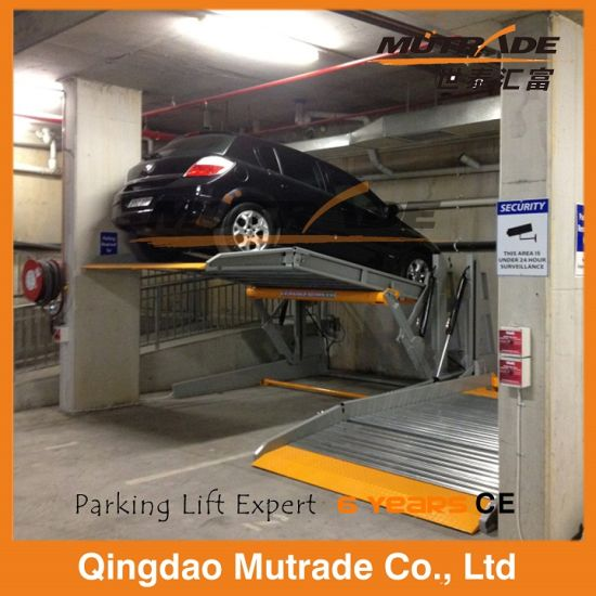 Galvanized Two Post Hydraulic Tilting Car Parking Lift pictures & photos