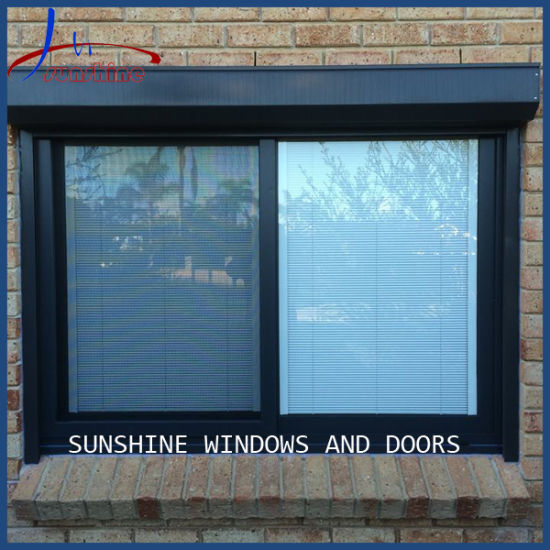 Customized Size/Design PVC 2 Panels Sliding Windows with Flyscreen for Residential