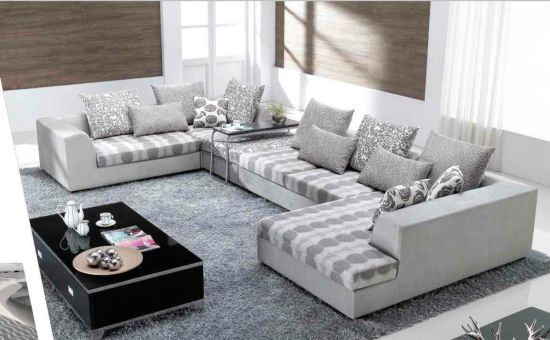 Chinese Furniture/Combination Sofa/Hotel Modern Sectional Sofa/Modern  Apartment Sofa/Corner Sofa/Upholstery Fabric Modern Sofa (GLMS 011)