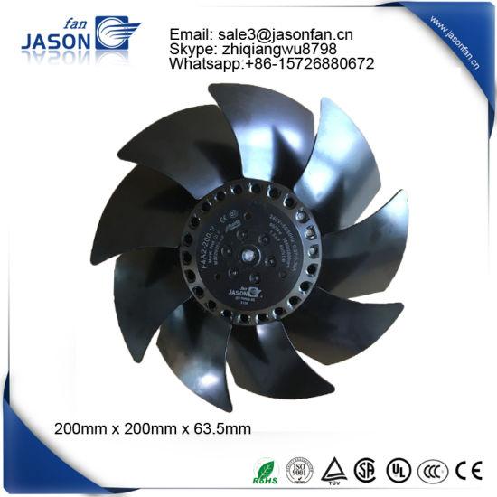 200mm Electric Motor Cooling Fan Blade Fj4e 200 V