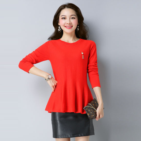 efad2fb2327 China Ladies Short Knitting Dress Knitwear - China Knitted Clothing ...