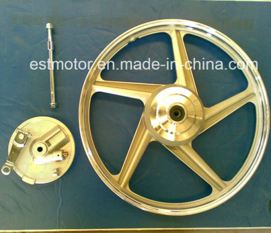 Motorcycle Accessory Front Drum Alloy Wheel for Cg125