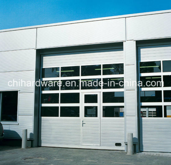 China Full Vision Panel Industrial Door With Passdoorsectional