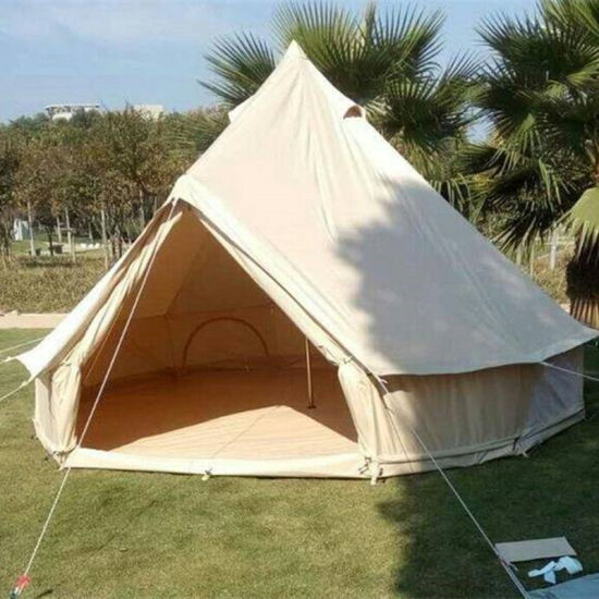 High Quality 6 M Outdoor Cotton Canvas Bell Tents Teepee Tent for Sale/Canvas Safari Tents/Canvas C&ing Tent & China High Quality 6 M Outdoor Cotton Canvas Bell Tents Teepee ...