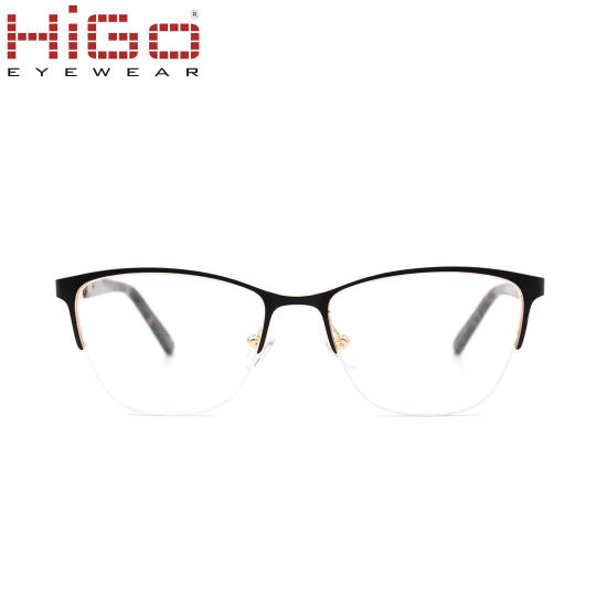Wenzhou Higo Women Optical Frame with Diamond Temple Glasses Eyeglasses