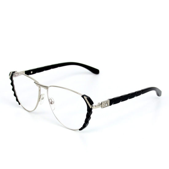 Russia′s Best-Selling Film Reading Glasses Female New Metal Old Big Frame  Diamond Frame Glasses