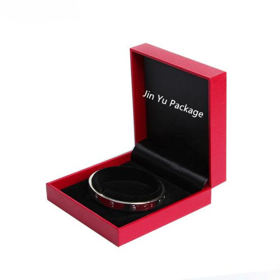 Red Handmade Plastic Gift Jewelry Packaging Box For Bracelet