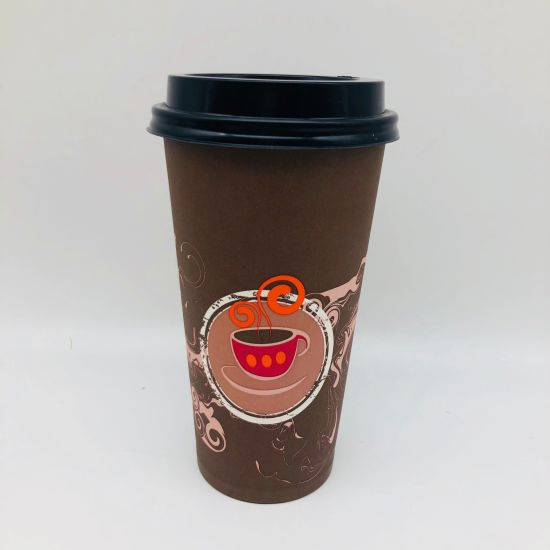 20oz Personalized Takeaway Beverage Paper Cups with PLA Lids pictures & photos