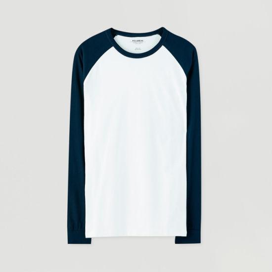 Manufacturer Contrast Color Cotton Spandex Couple T-Shirts