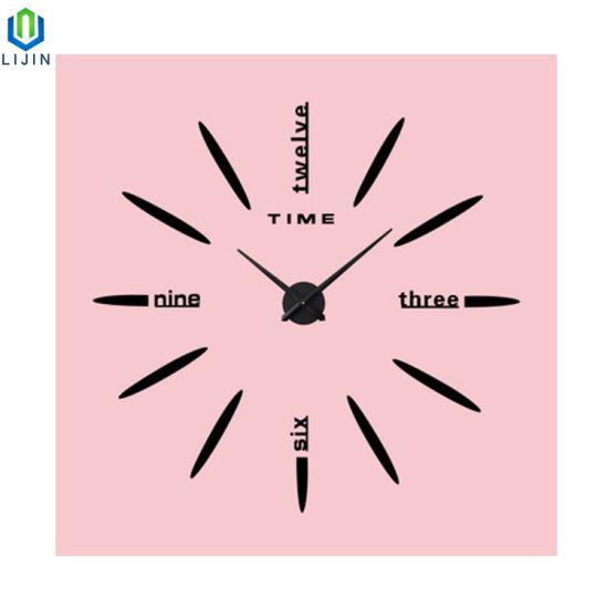 3D acrylic Creative Clock DIY Living Room Clock