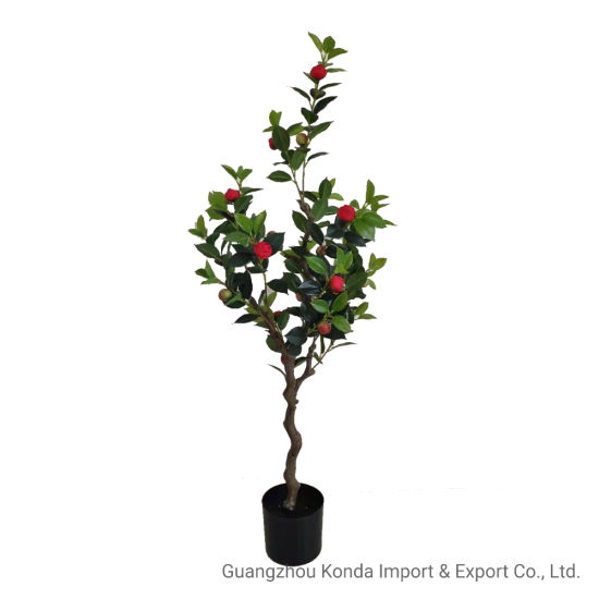 High-Quality Artificial Potted Camellia Plants Home Decoration Plants
