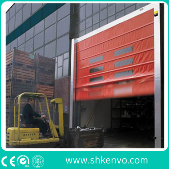 Industrial Automatic PVC Fabric Stacking Folding High Speed Performance Fast Acting Rapid Rise Quick Vertical Roll up or Roller Shutter Door for Warehouse