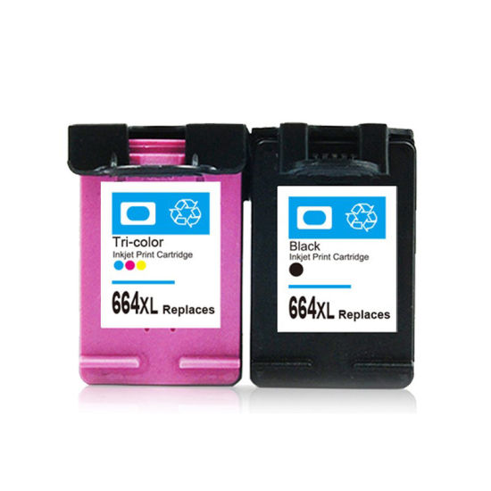 Remanufactured Inkjet Cartridge HP664XL Compatible Cartridges to Replace Original Cartridges HP664 with Ink Visible Cartridge