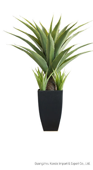 Factory Hot Sell Artificial Potted Plants Decorative Lifelike Agave Green Plants