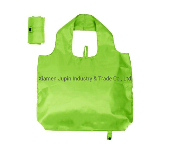 Custom Advertising Eco Friendly Recycle Folding Nylon Shopping Tote Bag