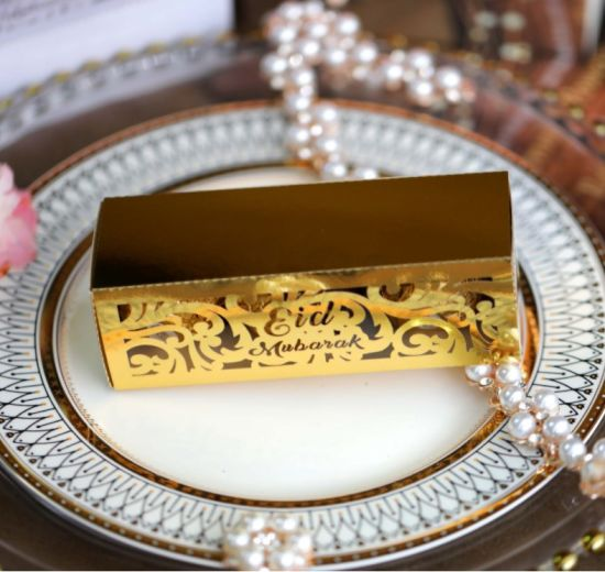 Hot Selling Eid Mubarak Gift Box Laser Cut Candy Box for Ramanda Party Supplies Festival Party Favor Box Ramadan Decor