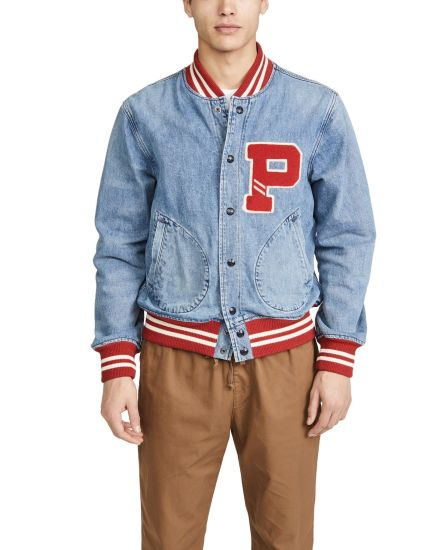 Wholesale Custom New Design Bomber Jackets for Men Denim Jeans Jackets with Embroidery