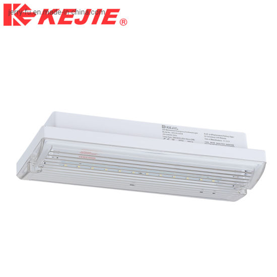 Outdoor Indoor LED Emergency Non Bulkhead Maintained Fire Exit IP65 Sign Light