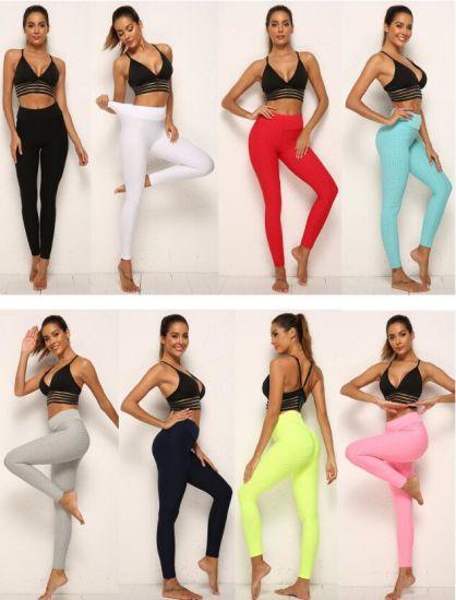Peach Hip Lifting High Waist Bubble Pants Multi Color Size Yoga Leggings