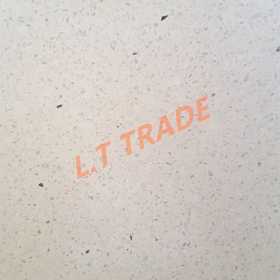 China White Color Range Artificial Terrazzo Floor Tiles