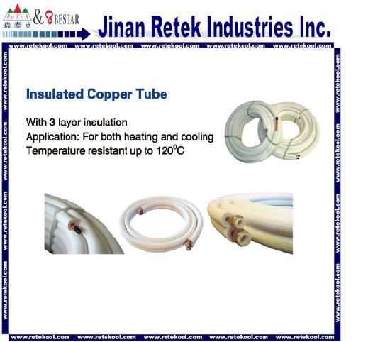 Air Conditioner AC Copper Insulation Insulated Tube pictures & photos