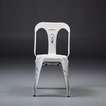 Excellent Vintage White Steel Tolix Chair Metal Multipls Outdoor Theyellowbook Wood Chair Design Ideas Theyellowbookinfo