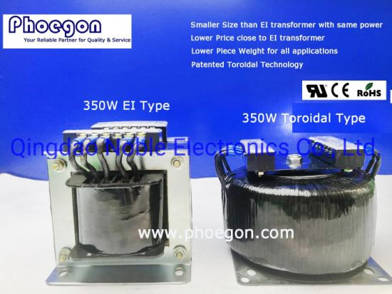 Lower Weight: Ower Price Toroidal Transformer 350W Smaller Than Ei Transformer pictures & photos