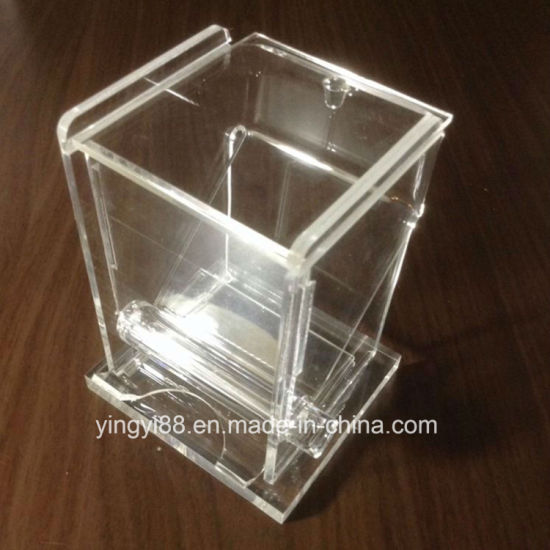 Custom Clear Restaraunt Acrylic Toothpick Roller Dispenser pictures & photos