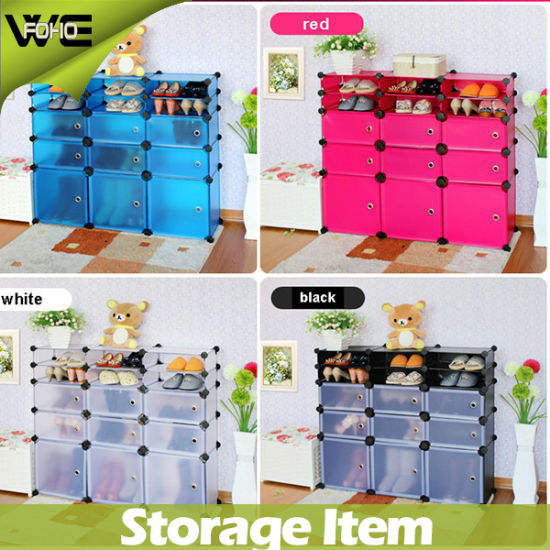 Popular Colorful Plastic Display Large Shoe Storage Cabinet