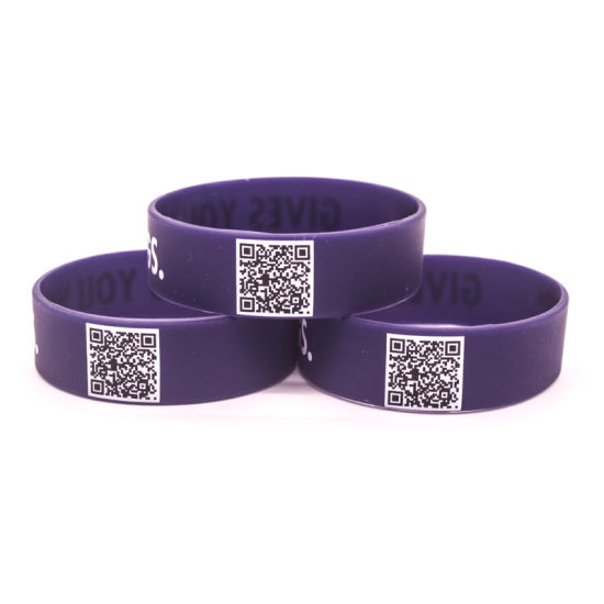 Wholesale Personalized Rubber Wristband for Gift Bracelet USB Access Control Chip Color