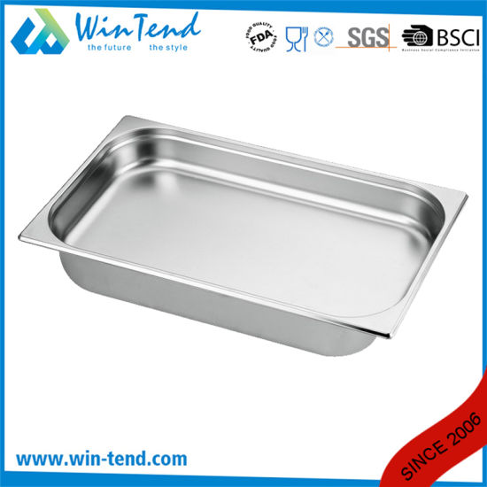 Hot Sale Stainless Steel Electrolytic Restaurant Kitchen 2/1 Size Gastronorm Container pictures & photos