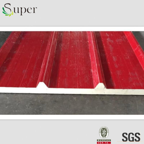 Color Painted Sandwich Panel for Wall and Roof PU Insulation pictures & photos