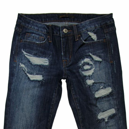 High Quality & Hole Ladies Denim Jeans (MY-045) pictures & photos