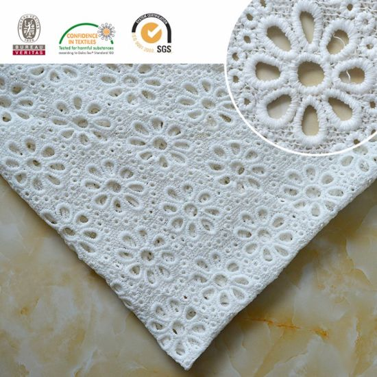 High Quality Embroidery Lace Fabric Polyester Trimming Fancy Melt Polyster Lace for Garments & Home Textiles E20039