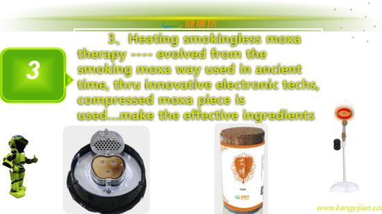 Chinese Electric Moxibustion Device/ Moxa Device for 360 Degree pictures & photos
