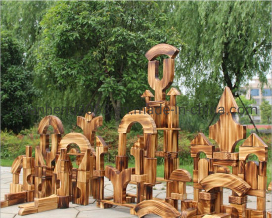 Wooden Large Building Blocks Solid Wood Intelligence Toys for Outdoor