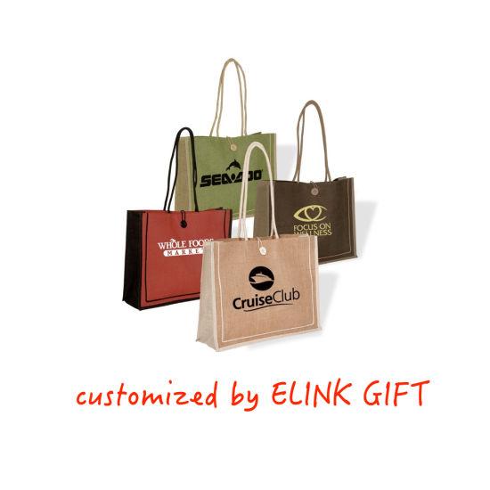 Elink Supply OEM Jute Tote Bag Shoulder Bag Shopping Bag for Women