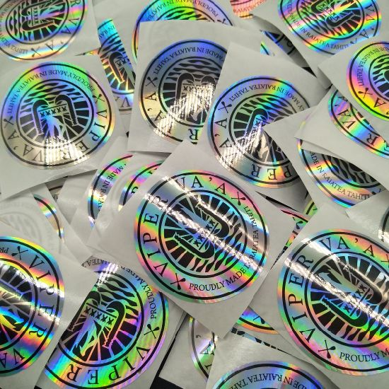 Custom Label Printing Make Your Own Hologram Security Rainbow Foil Stickers