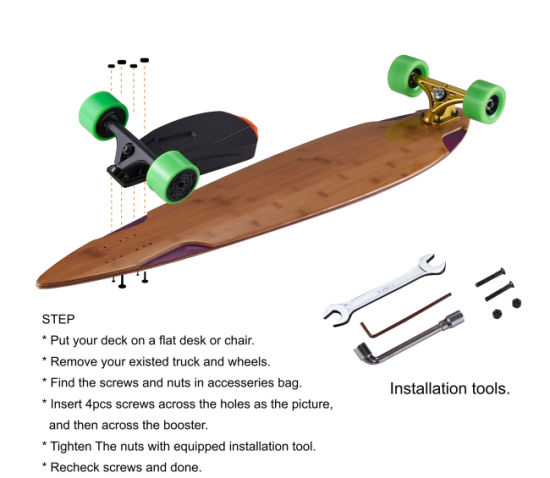 Dual Brusheless Motor Drive Electric Skateboard Booster. Get Latest Price d0910250496